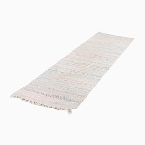 Swedish Vintage Hand Woven Recycled Fabric Rug