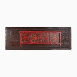 Tibetanische Türen blaue Lotus Wanddekoration