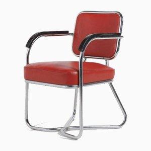 Scandinavian Bauhaus Armchair, 1950s