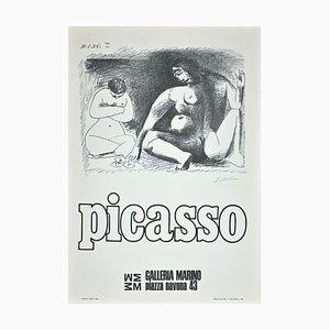 Picasso Ausstellungsplakat, Offset, 1974