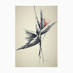Unknown, Price, Abstract Composition, Pencil and Pen, 1974