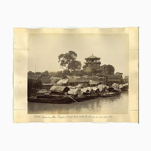 Unknown, Ancient Views of Canton, Albumen Print, 1890s, Set of 2