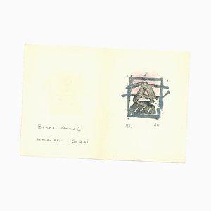 Kumi Sugai, Ideogramm, Radierung, 1960