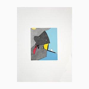 Gianni Dova, Open-Mouth Creature, Screen Print, 1980s
