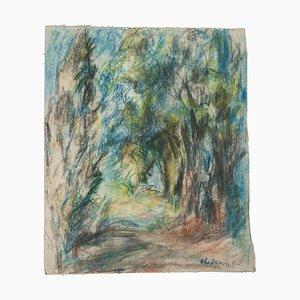 Ch. Jamiris Rodriguez, The Forest, Dessin, milieu du 20ème siècle
