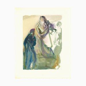 Salvador Dalí, St. Peter und Dante, Holzschnitt, 1963