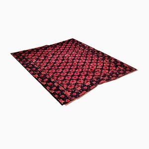 Romanian Floral Handwoven Rug in Wool