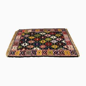 Rumänischer Kelim Teppich mit geometrischem Design