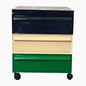 Mid-Century Multicolor Plastic Stacking Drawers by Simon Fussell for Kartell