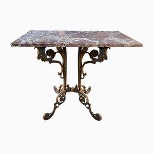 Antique Style Regency Marble Garden Table