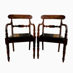 Antique Regency Mahogany Elbow Chair