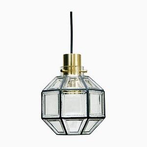Pendant Fitting Lamp in Crystal Glass from Glashütte Limburg