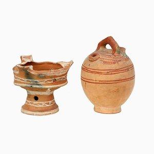 Pottery Vessels, Morocco, 1950s, Set of 2