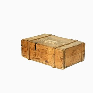 Wooden Chest With Lid from Franck Coffee