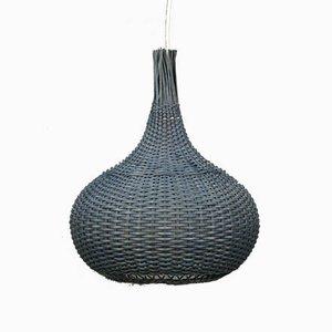 Mid-Century Swedish Basketwork Pendant Light