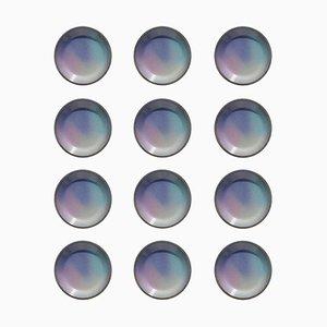 Italian Ceramic Plates by Pino Castagna, 1970s, Set of 12
