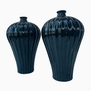 Ceramic Vases, 1940s, Set of 2