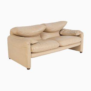 Italian Sofa in Leather by Vico Magistretti for Cassina