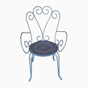 Garden Chairs in Wrought Iron, Set of 4