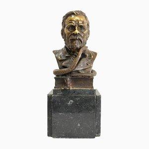 Bronze Bust of Louis Pasteur by E. Drouot, Late 19th Century