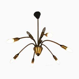 German Sputnik Lamp in Brass, 1960s