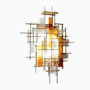 Brutalist Wall Sconce from Poliarte, Italy, 1960s