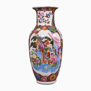 Vintage Decorative Chinese Ceramic Baluster Vase, 1940s