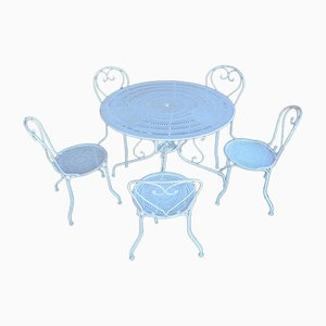 Garden Furniture Set in Wrought Iron, 1950s or 1960s, Set of 6