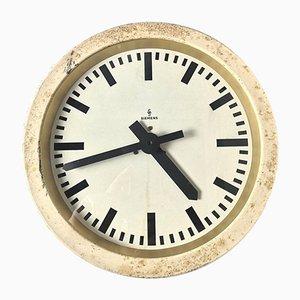 German Industrial Factory or Office Clock from Siemens, 1950s