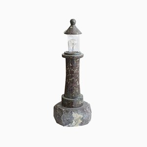 Cornish Serpentine Lighthouse Table Lamp