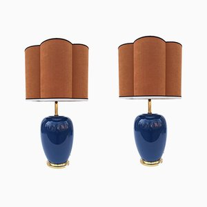 Cobalt-Colored Lamps from Fitz, Set of 2