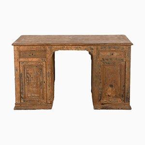 French Dry-Scraped Oak Partner's Desk
