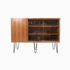 Mid-Century Walnut Sideboard Cabinet, 1950s