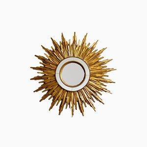 French Golden Sunburst Mirror, 1950s