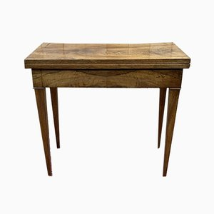 Game Table in Walnut, 19th Century