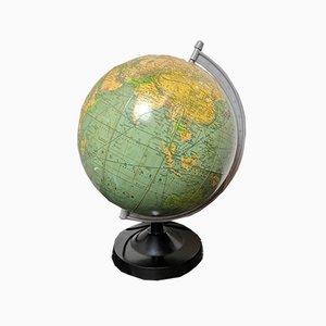 Vintage East German Physical Earth Globe Lamp by Raths Leipzig, 1980s