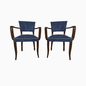 Blue Bridge Armchairs, Set of 2