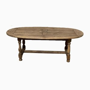 Rustic Bleached Oak Farmhouse Dining Table