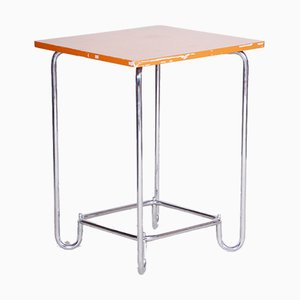 Small 20th Century Chrome and Plywood Bauhaus Table from Hynek Gottwald, 1930s