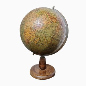 Vintage East German Physical Earth Globe by Raths Leipzig, 1940s
