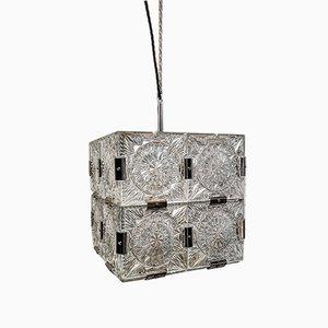 Czech Crystal Cube Pendant Light from Kamenický Šenov, 1960s