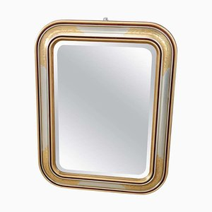 Gilded and Silvered Wall Mirror, 1980s