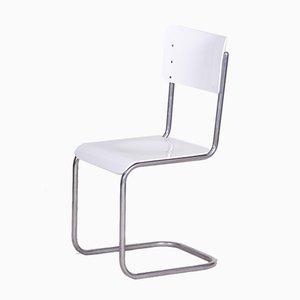 Vintage White Bauhaus Chair from Vichr a Spol