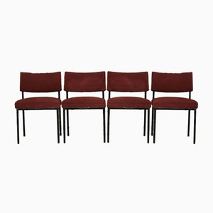 Set of 4 Chairs Joseph André Motte, Steiner, France, Circa 1960