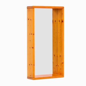 Rectangular Mirror with Wooden Frame by Maison Regain, 1970s