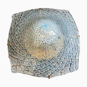 Murano Glass and Brass Ceiling Light by La Murrina, 1980s