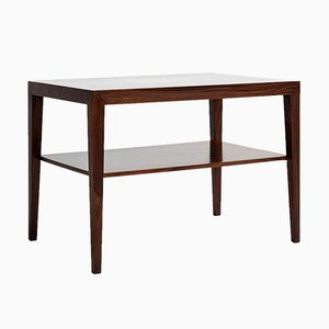 Mid-Century Danish Two-Tier Side Table in Rosewood by Severin Hansen for Haslev