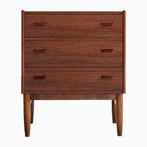 Mid-Century Danish Chest of 3 Drawers in Teak by Carl Aage Skov for Munch