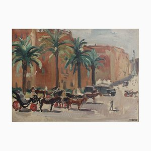 Piazza di Spagna Roma by Yves Brayer, 1933