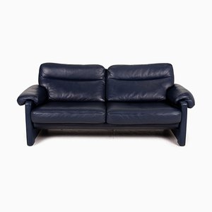 Leather DS 70 Two-Seater Couch in Dark Blue from De Sede